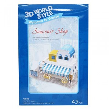 3D PUZZLE GREEK SOUVENIR SHOP 43 ΤΕΜΑΧΙΑ (W3167H)
